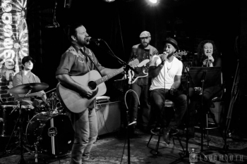 Joshua C.S. with band live at the Basement OG Nashville