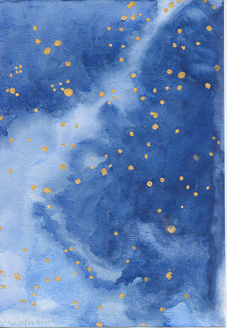 Blue and Gold Starry Sky
