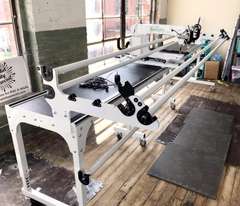 Huntsville 1st rentable longarm quilting machine.