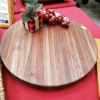 Large Black Walnut Lazy Susan