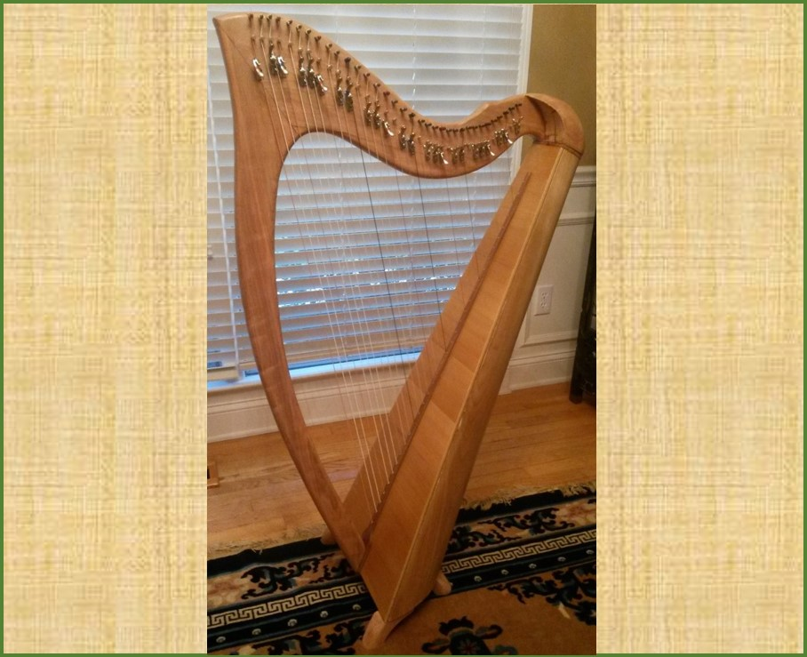 34 String Lever Harp in Cherry