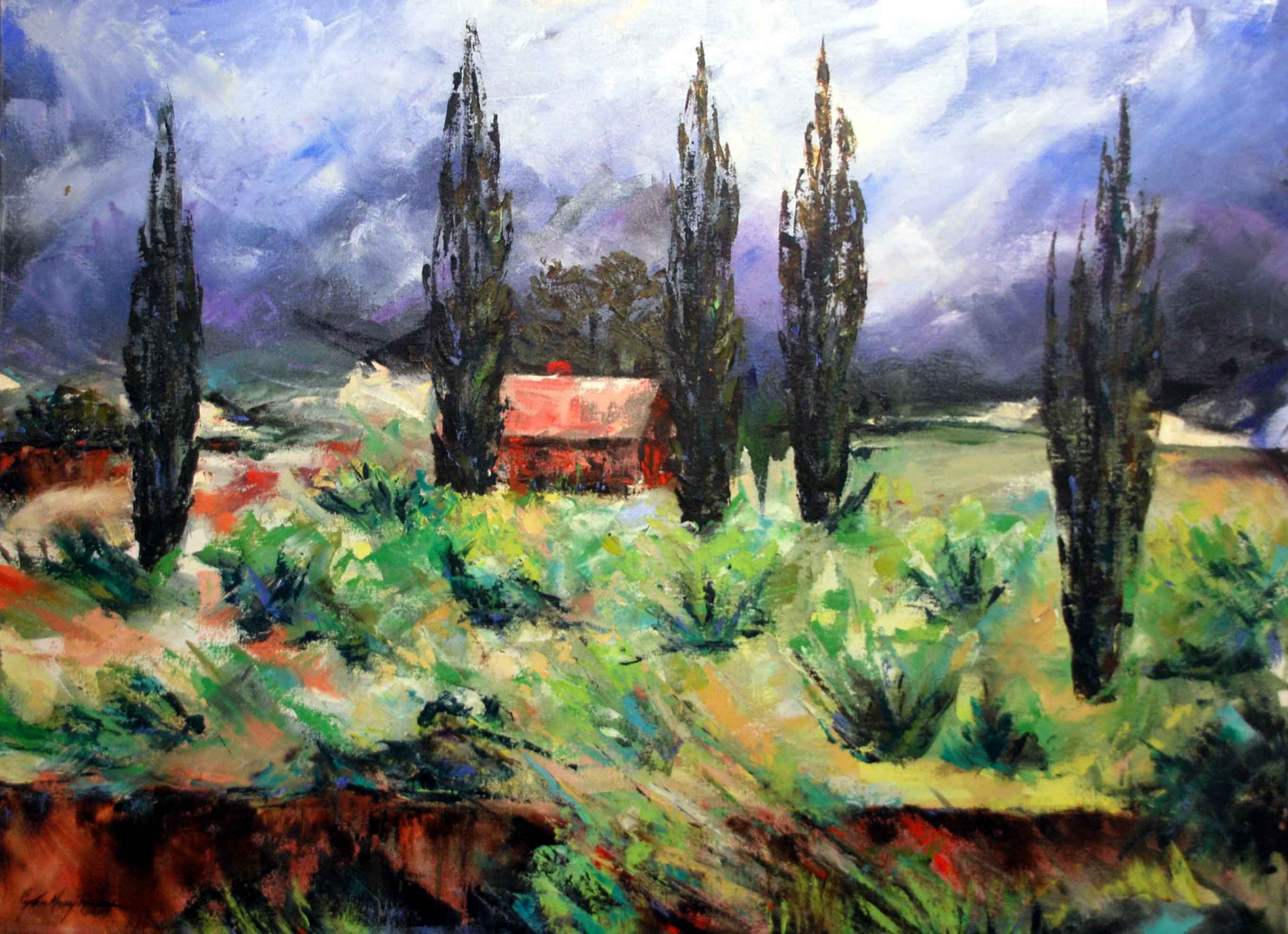 Provence, Oil on Canvas