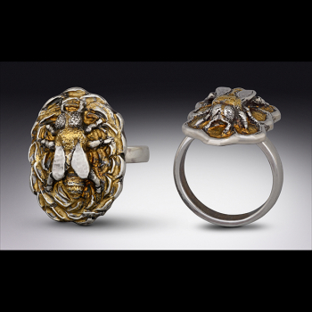 Sterling Silver Gold Honey Bees