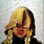"""""""Safe Trevon: Blonde Pigtails Required,"""" acrylic painting"""