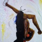 """""""Homage to Hip Hop,"""" acrylic painting"""