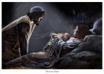 Nativity Story / Oil Painting/ For unto you is born this day in the city of David a Savior, which is Christ the Lord LUKE 2:11